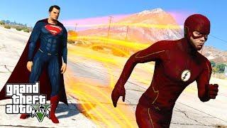 GTA 5 Mods - ULTIMATE SUPERMAN VS FLASH FIGHT