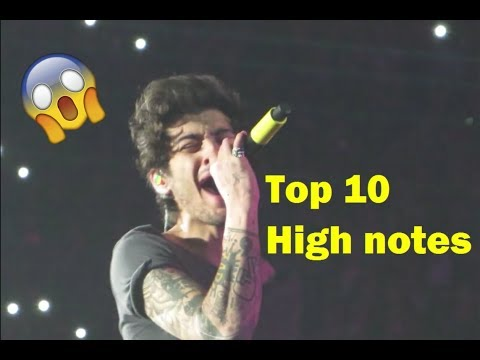 Zayn hitting top 10 High Notes