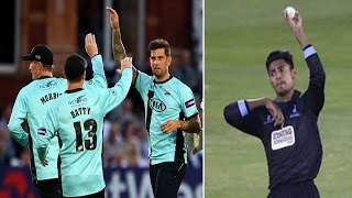 Mustafiz bowling & Surrey vs Sussex Sharks match HIGHLIGHTS