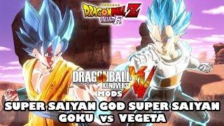Super Saiyan God Super Saiyan Goku vs Vegeta - Dragon Ball Xenoverse Resurrection F Movie Mods [PC]