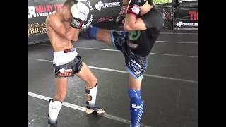 Eduard Mikhovich & Ramil Novruzov drilling kickboxing combos