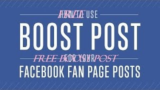 How to boost post on facebook pag for free