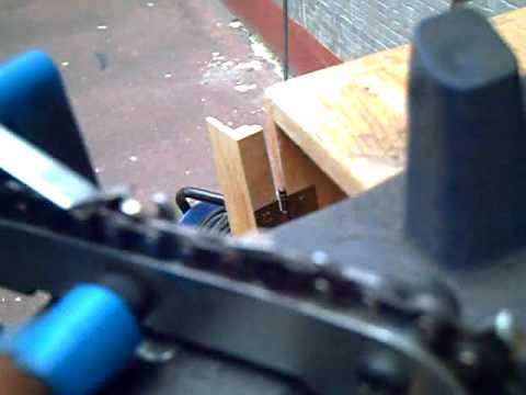 Afilar cadena de motosierra con maquina