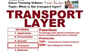 200-120 CCNA | Video 14: What is the transport layer? | Free Cisco Training Videos 2014