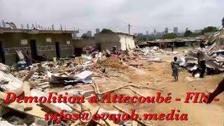 Démolition d'un quartier d'Abidjan par le gouvernement 3 mars 2016