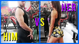 Can a Buff Dude Survive a Booty Workout? | Men vs Women Workouts