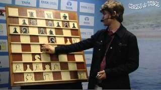 Magnus Carlsen shows his win against Hikaru Nakamura (part 1 of 2)