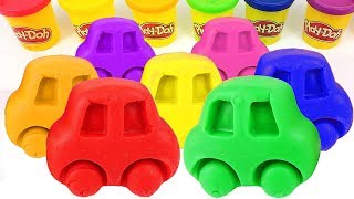 Learn Colors with Play Doh Cars Molds and Minions Superhero Surprise Toys for Kids