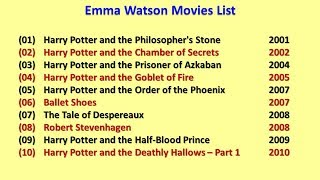 Emma Watson Movies List