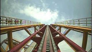 Dive Coaster Roller Coaster Front Seat POV Chimelong Paradise, China