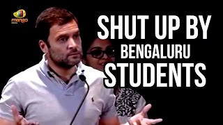 Rahul Gandhi Made To Shut Up By Bengaluru Students | Rahul Quiz Backfires