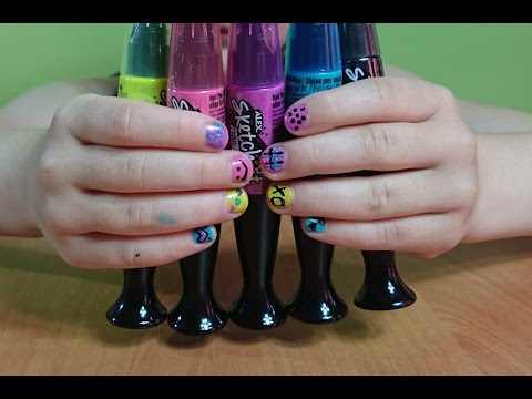 Ручки-лаки красим ногти необычными лаками