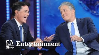Jon Stewart honored by Colbert, skewered by politicians in his 'Daily Show' finale