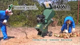 Shredding Fresh Coconut Husk