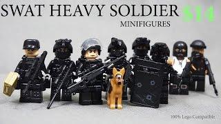 Lego SWAT Team Raid Modern Warfare Minifigures Brickarms Toy Gun КРУТЫЕ ЛЕГО СОВМЕСТИМЫЕ ФИГУРКИ