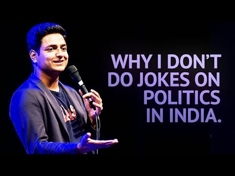 Why I Don t Do Jokes About Politics in India Stand Up Comedy Kenny Sebastian