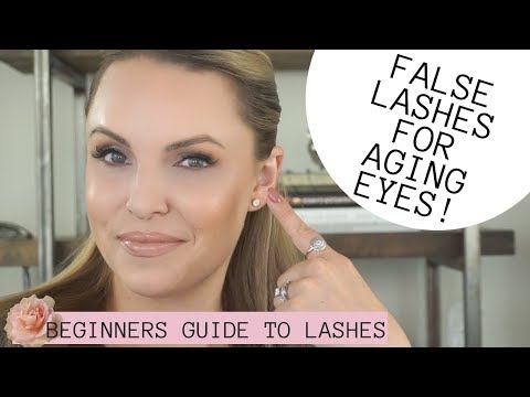 ULTIMATE GUIDE TO FALSE LASHES FOR AGING EYES Beginners 101 to lashes