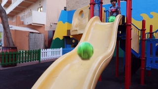 Just Some Family Fun Traveling Playground Slide with a Ball