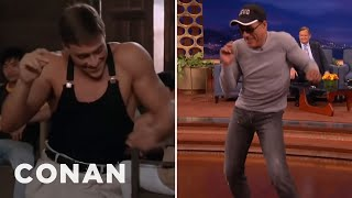 "Jean-Claude Van Damme Recreates His ""Kickboxer"" Dance Scene  - CONAN on TBS"