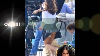 SALMA HAYEK Shows Butt in Wardrobe Malfunction on Set of New Movie (10/23/13)
