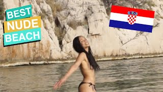 Croatia's Best Nude Beach! Nugal Makarska (Amerikanka Nudistička Plaža Hrvatska)