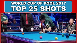 TOP 25 SHOTS World Cup Of Pool 2017
