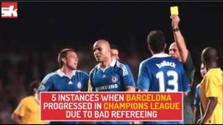 5 times when referee favoured Barcelona in Champions League