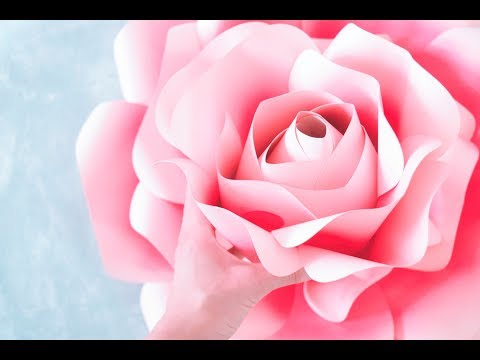 Xxx Mp4 How To Make Giant Paper Roses Rose Tutorial Templates 3gp Sex