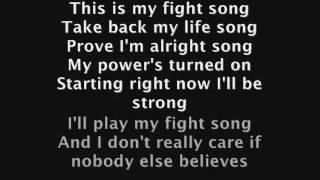 fight song-nightcore lyrics