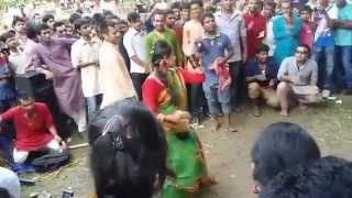 Rajshahi University Boys and girls dancing Pohela Boishakh