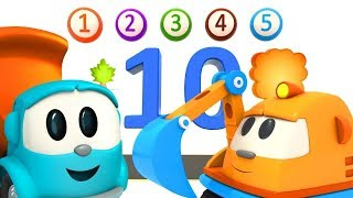 Leo the truck. Learn numbers song for kids.