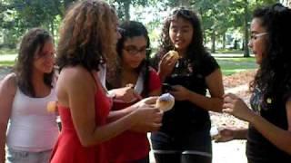 vanessa, carla, and the cupcake!