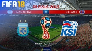 FIFA 18 World Cup - Argentina vs. Iceland @ Spartak Stadium (Group D)
