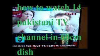 how to watch Pakistani TV channel in 60cm dish
