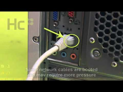 How to reseat a network cable