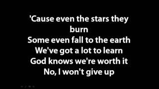 Jason Mraz - I won't give up lyrics