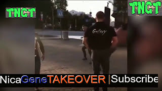 RUSSIAN MMA FIGHTER WHEEL KICKS AND KILLS POWERLIFTING CHAMPION IN STREET FIGHT IN RUSSIA | VIDEO