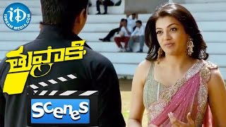 Thuppakki Movie Scenes - Vijay Flirting With Kajal Aggarwal || Murugadoss