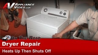 Whirlpool & Kenmore Gas Dryer heats up then shuts off -Repair & Diagnostic -- WGD5500SQ0