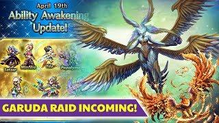 [FFBE] Final Fantasy Brave Exvius - FFXIV Garuda Raid! Enhancements, BIRDIES, OH MY!
