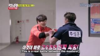 Running man fight scene | Kim joong kook vs Cho Sung Hoon name tag ripping | [ENG SUB]