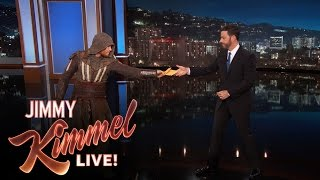 "Deliveryman Brings Jimmy Kimmel The New ""Assassin's Creed"