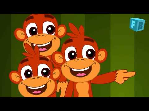 Five Little Monkeys Jumping On The Bed Children Nursery Rhyme Songs