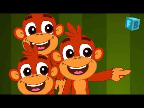 Five Little Monkeys Jumping On The Bed | Children Nursery Rhyme | Flickbox Kids Songs