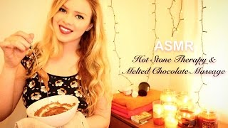 ASMR Hot Stone Therapy and Relaxing Melted Chocolate Massage