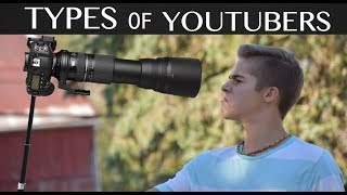 Types of YouTubers - YouTuber Stereotypes