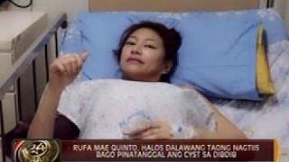 Rufa Mae Quinto, halos dalawang taong nagtiis bago pinatanggal ang cyst sa dibdib