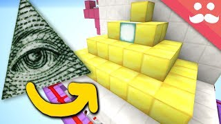 Making a GIANT ILLUMINATI PYRAMID DOOR in Minecraft!