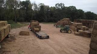 Loading Hay The Fast Way. this is just the normal day of life on the farm.