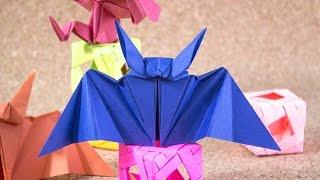 Murciélago de papel Origami / Jeguridos